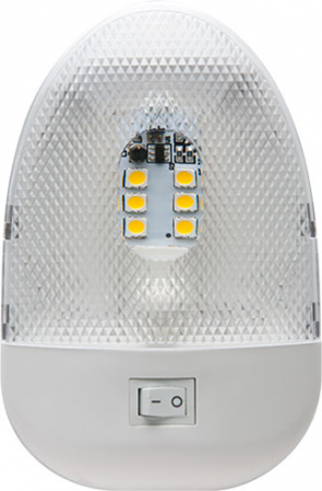 LED Interior RV Pancake Light - Single Light with Switch