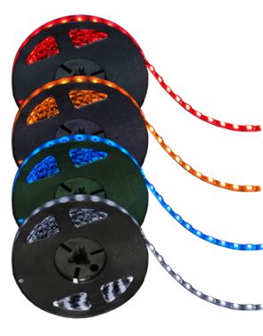 "LED Strip Light, Blue Diodes, Black Base, 16"" Long"