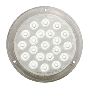 "Surface Mount 6"" Round LED Interior Light - LED Light with Chrome Trim Ring"